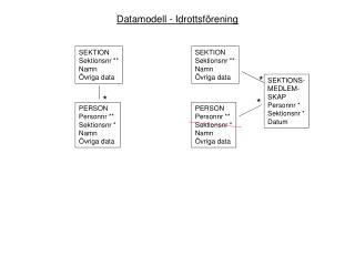 Datamodell - Idrottsförening
