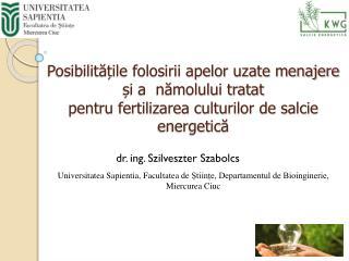 dr. ing. Szilveszter Szabolcs