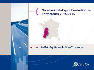 Nouveau catalogue Formation de Formateurs 2015-2016
