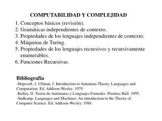 COMPUTABILIDAD Y COMPLEJIDAD