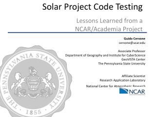 Solar Project Code Testing