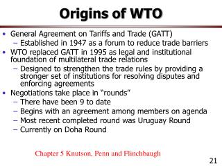 Origins of WTO