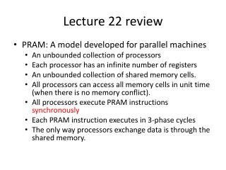 Lecture 22 review