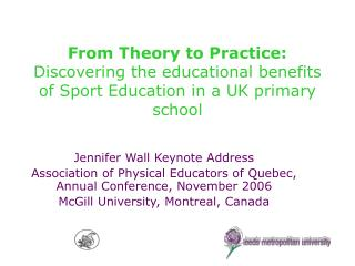 Jennifer Wall Keynote Address