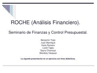 ROCHE (Análisis Financiero).