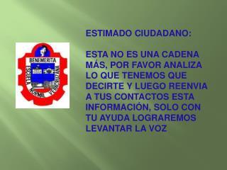 ESTIMADO CIUDADANO: