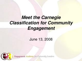 Meet the Carnegie Classification for Community Engagement