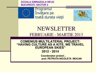 NEWSLETTER FEBRUARIE - MARTIE 2013