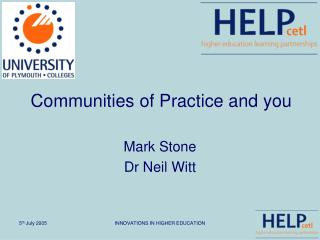 Communities of Practice and you