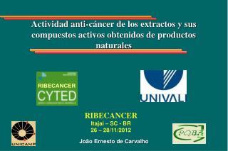 Actividad anti-cáncer de los extractos y sus compuestos activos obtenidos de productos naturales