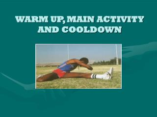 WARM UP, MAIN ACTIVITY AND COOLDOWN