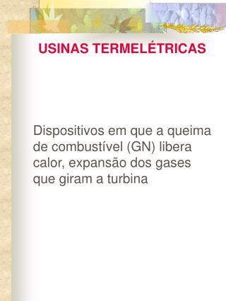 USINAS TERMEL�TRICAS