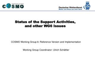 Status of the Support Activities, and other WG6 Issues