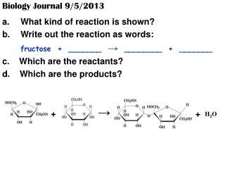 Biology Journal 9/5/2013