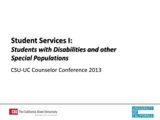 CSU-UC Counselor Conference 2013