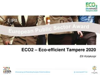 ECO2 – Eco-efficient Tampere 2020