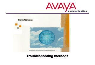 Troubleshooting methods