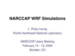 NARCCAP WRF Simulations