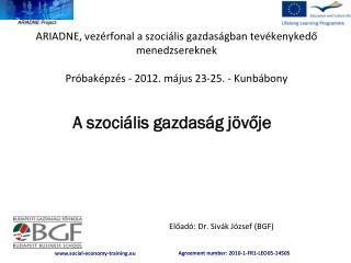 Előadó: Dr. Sivák József (BGF)