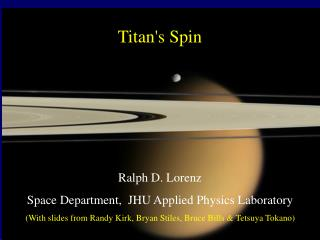 Titan's Spin