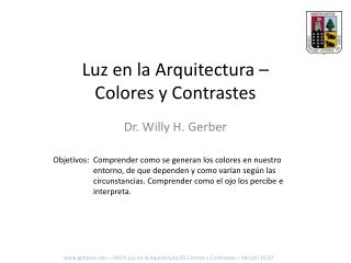 Luz en la Arquitectura – Colores y Contrastes