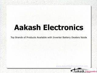 Authorised Dealer Exide Batteries in Noida
