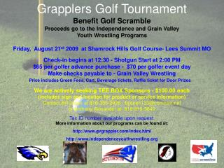 Grapplers Golf Tournament