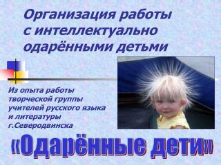 Организация работы  с интеллектуально одарёнными детьми