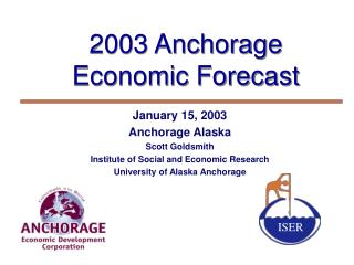 2003 Anchorage  Economic Forecast
