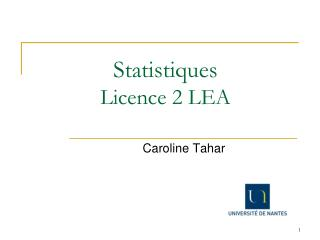 Statistiques  Licence 2 LEA