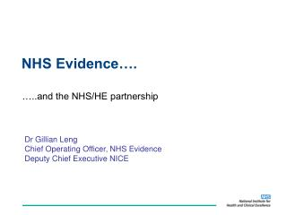 NHS Evidence�.