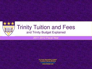 Trinity Tuition and Fees and Trinity Budget Explained