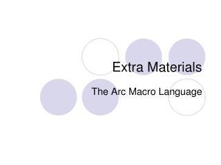 Extra Materials