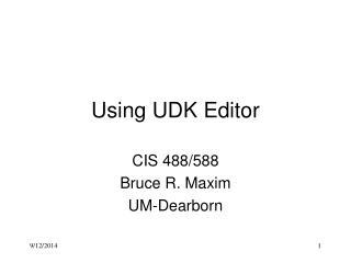 Using UDK Editor