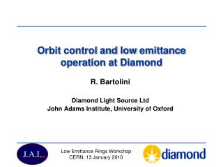 Orbit control and low  emittance  operation at Diamond