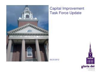 Capital Improvement Task Force Update