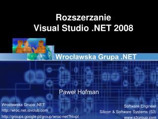 Rozszerzanie Visual Studio .NET 2008