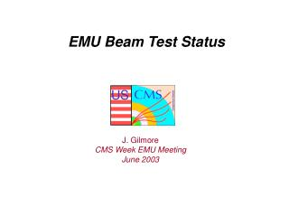 EMU Beam Test Status