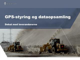 GPS-styring og dataopsamling