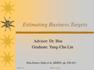 Estimating Business Targets
