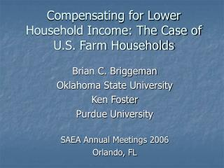 Compensating for Lower Household Income: The Case of U.S. Farm Households