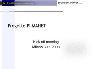 Progetto IS-MANET