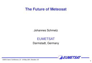 The Future of Meteosat