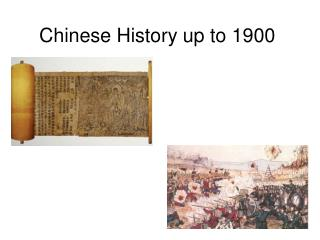 Chinese History up to 1900