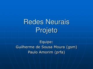 Redes Neurais Projeto