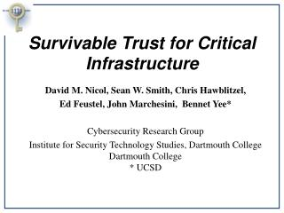 Survivable Trust for Critical Infrastructure