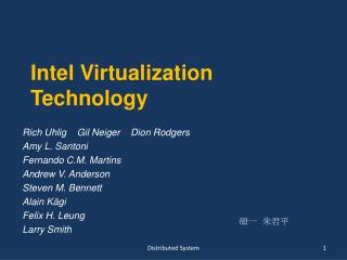 Intel Virtualization Technology