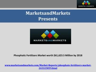 Phosphate Fertilizers Market