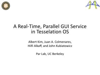 A Real-Time, Parallel GUI Service in  Tesselation  OS