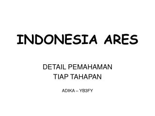 INDONESIA ARES